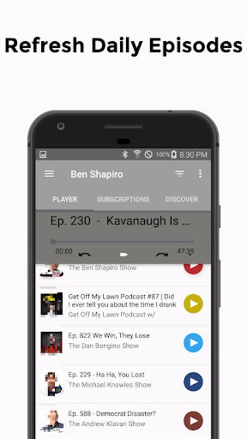Ben: Listen to Ben Shapiro Podcast screenshot 3