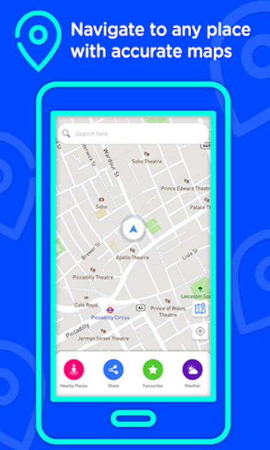 Voice GPS Driving Directions –Lite, GPS Navigation screenshot 1