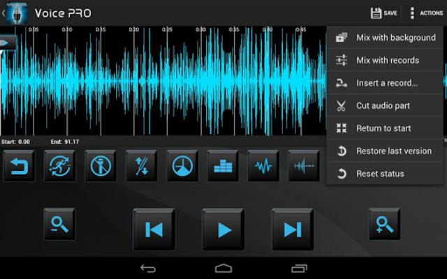 Voice PRO - HQ Audio Editor screenshot 1
