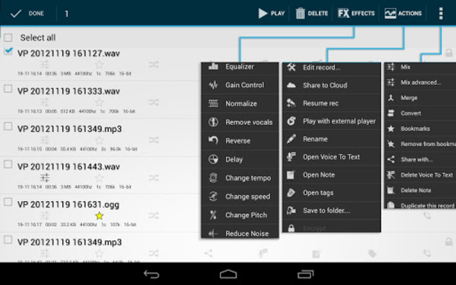 Voice PRO - HQ Audio Editor screenshot 3