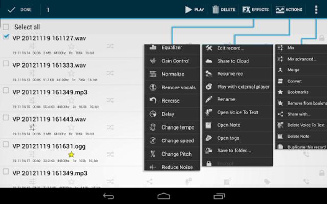 Voice PRO - HQ Audio Editor screenshot 11