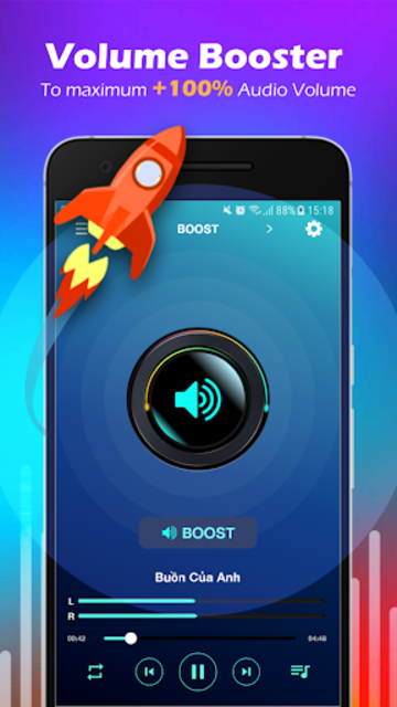 Volume Booster & MP3 Player with Equalizer screenshot 1