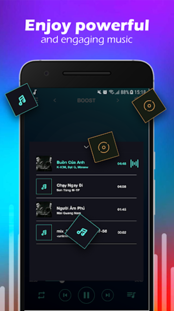 Volume Booster & MP3 Player with Equalizer screenshot 3