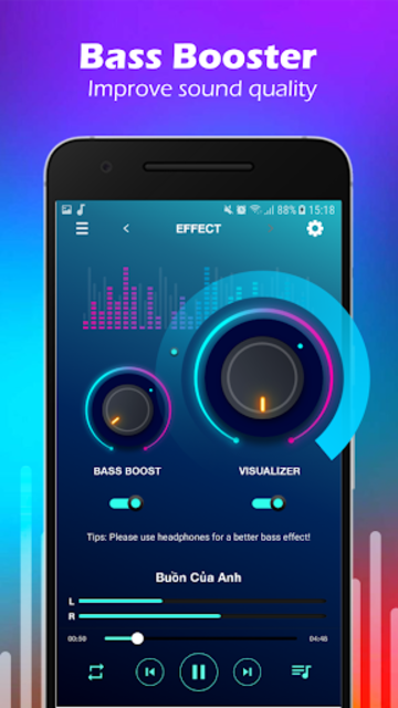 Volume Booster & MP3 Player with Equalizer screenshot 5