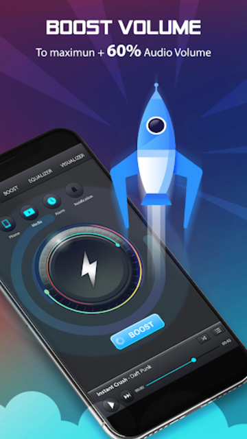 Volume Booster and Bass booster with Music Player screenshot 1