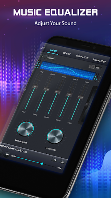 Volume Booster and Bass booster with Music Player screenshot 2