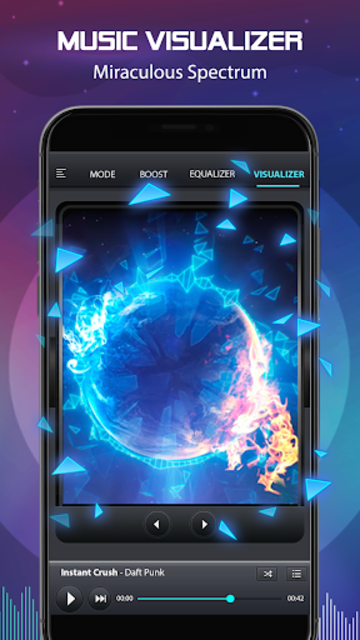 Volume Booster and Bass booster with Music Player screenshot 3