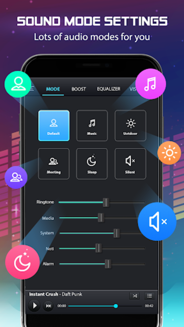 Volume Booster and Bass booster with Music Player screenshot 4