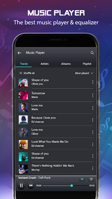 Volume Booster and Bass booster with Music Player screenshot 5