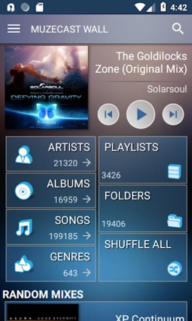 Muzecast Hi-Def Music Streamer screenshot 1