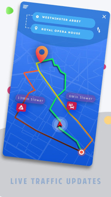 Real-time GPS, Maps, Routes, Direction and Traffic screenshot 2