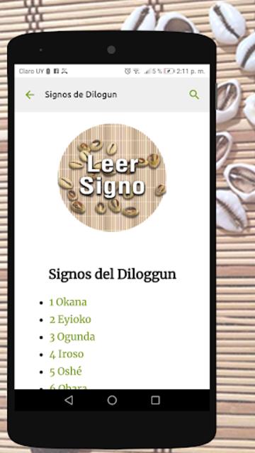 Signos del Diloggun screenshot 1
