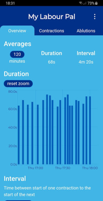 My Labour Pal (Contraction Timer) screenshot 3