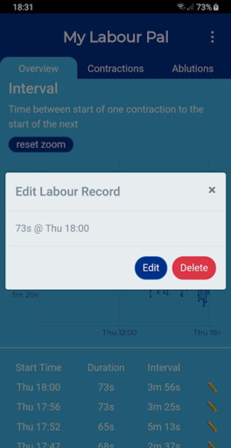 My Labour Pal (Contraction Timer) screenshot 5