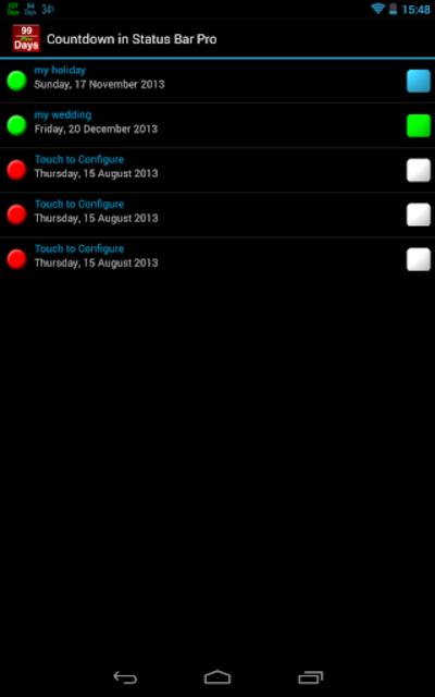 Countdown in Status Bar Pro screenshot 10