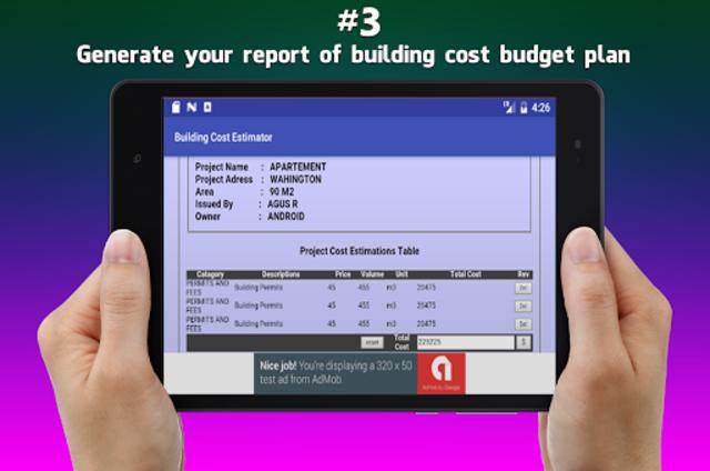 Building Cost Estimator screenshot 9