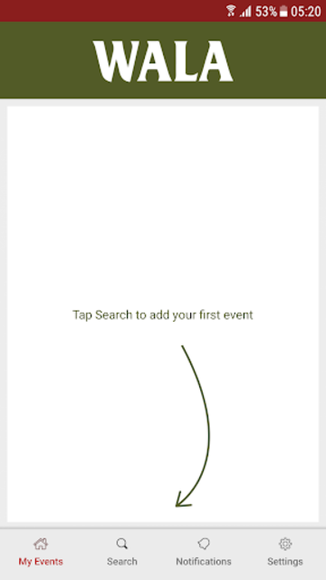 WALA Events screenshot 2
