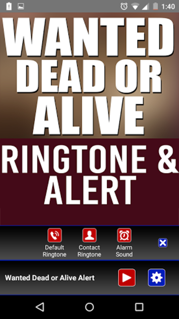 Wanted Dead Or Alive Ringtone screenshot 2