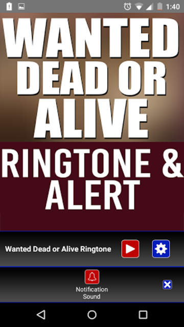 Wanted Dead Or Alive Ringtone screenshot 3