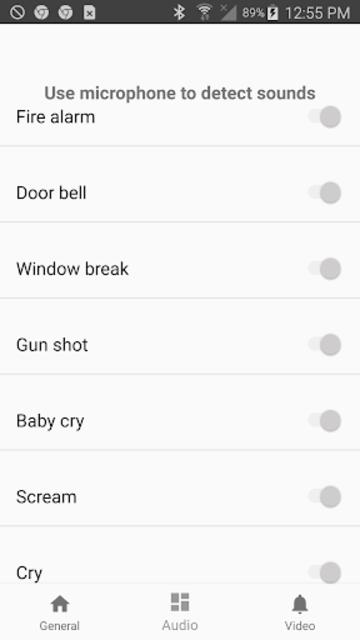 Wave2Cloud - Home Security Camera, Audio Detection screenshot 8