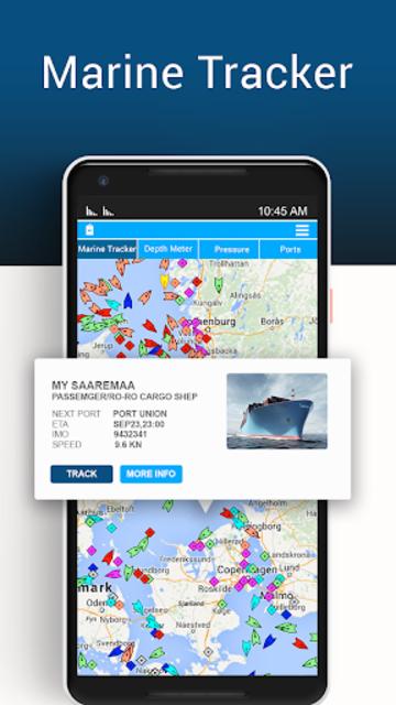 Marine Tracker Ship Finder-Vessel Positions Free screenshot 1