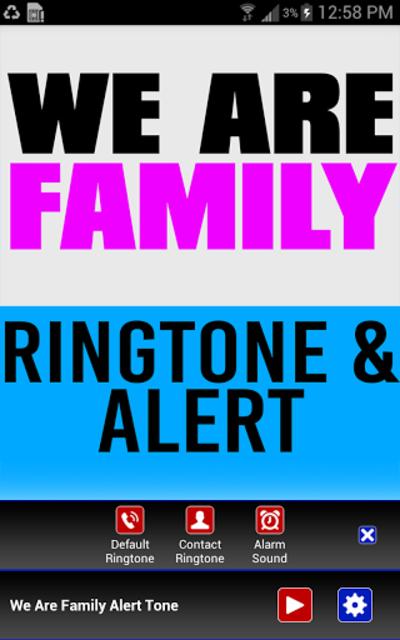 We Are Family Ringtone & Alert screenshot 2