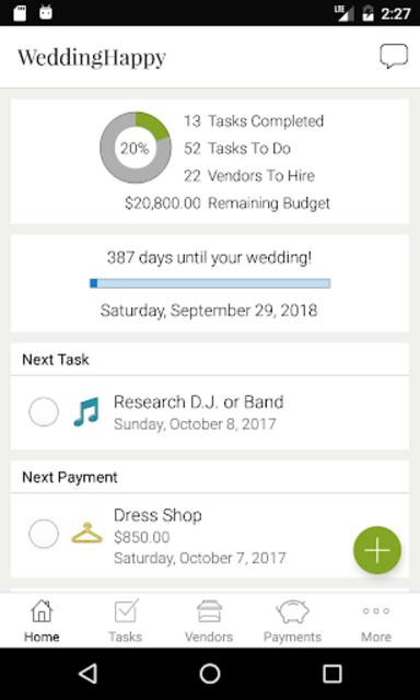 WeddingHappy - Wedding Planner screenshot 1