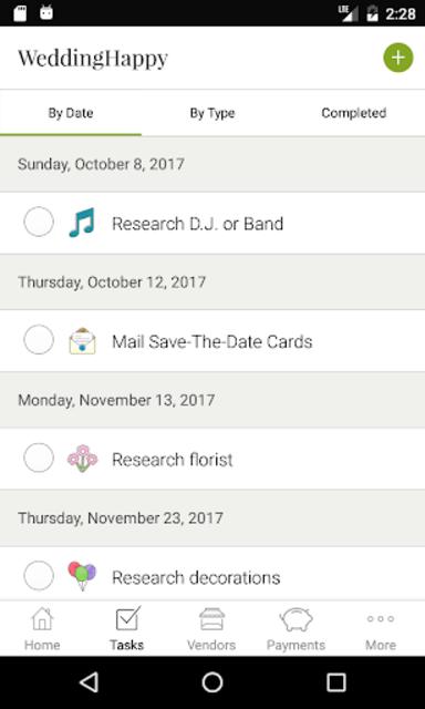 WeddingHappy - Wedding Planner screenshot 2