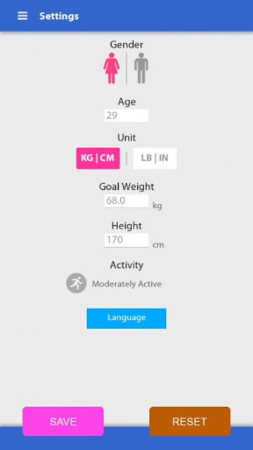 Weight Gain Calculator screenshot 1