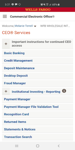 about wells fargo ceo mobile® google play version