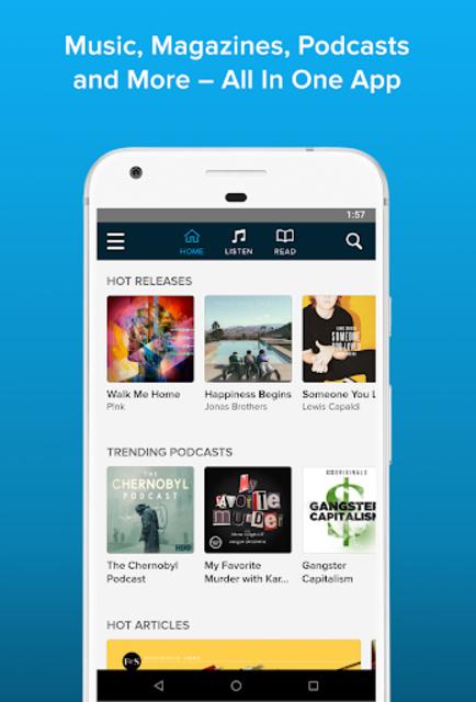 WEYV: Music, Podcasts & Magazines screenshot 1