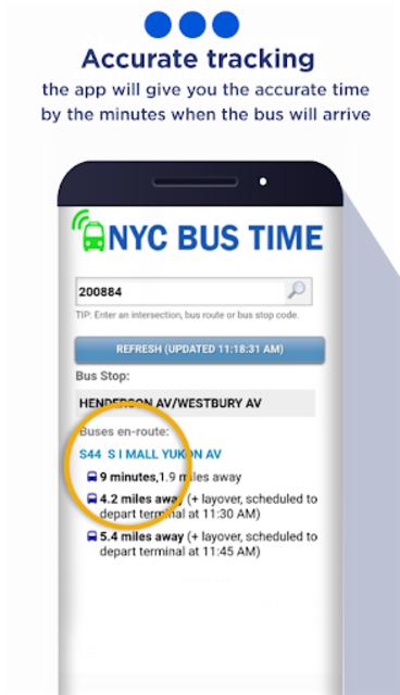New York Bus Time App screenshot 1