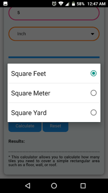 Floor & Wall Tiles Calculator screenshot 6