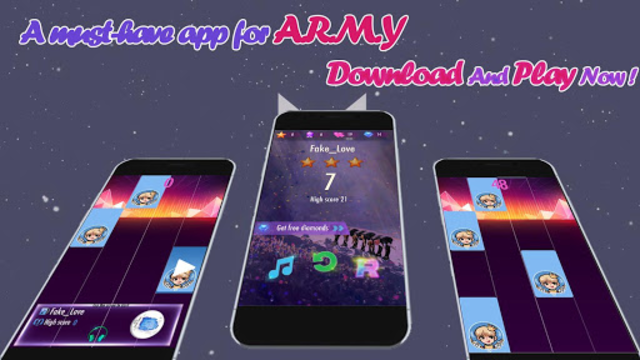 Piano Tiles BTS 2019 - ARMY Love BTS screenshot 5