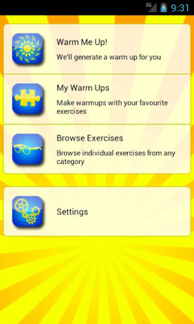 Warm Me Up for singers screenshot 1