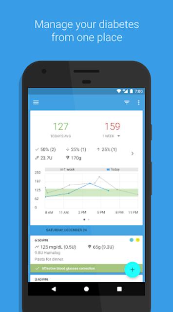 BG Monitor Diabetes Pro screenshot 1