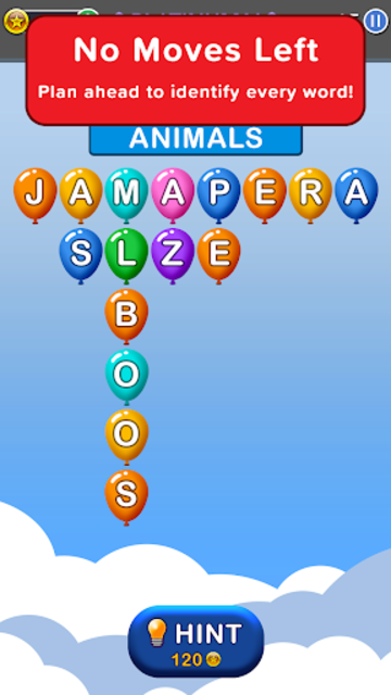 Word Balloons - Word Games free for Adults screenshot 3