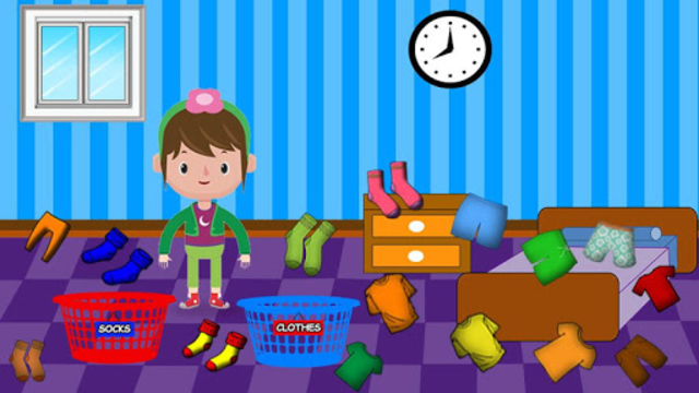Washing and Ironing Clothes: Kids Laundry Game screenshot 2