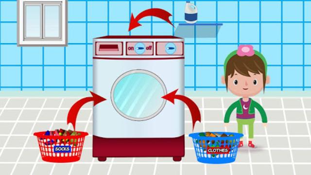Washing and Ironing Clothes: Kids Laundry Game screenshot 3