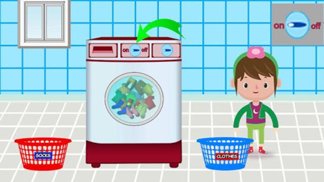 Washing and Ironing Clothes: Kids Laundry Game screenshot 4