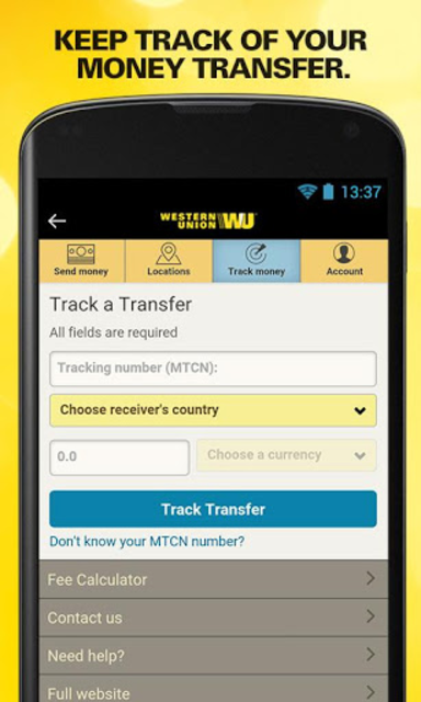 Western Union Tracking Without Mtcn