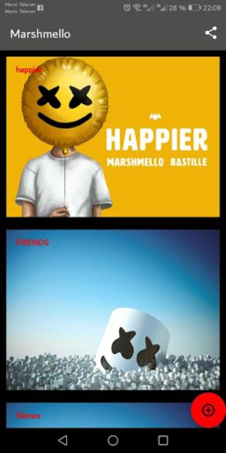 Marshmello ft. Bastille - Happier screenshot 1