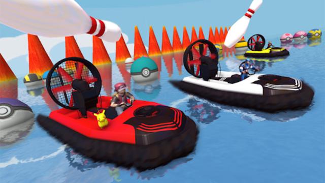 Superheroes Airboat Waterslide Stunts screenshot 2