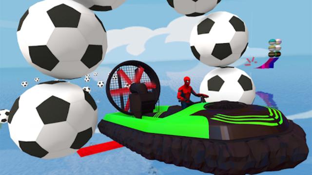 Superheroes Airboat Waterslide Stunts screenshot 3