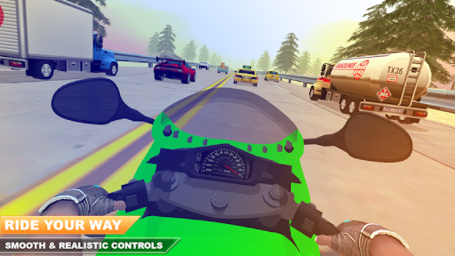 Traffic Moto Bike Racing 2018 screenshot 1
