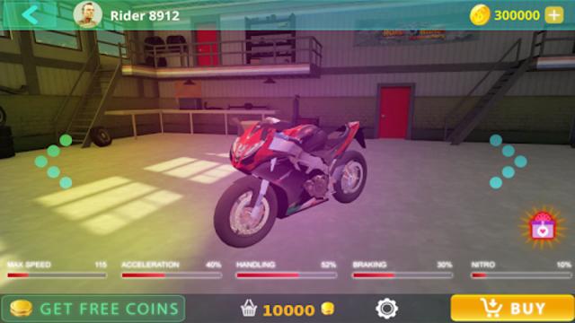 Traffic Moto Bike Racing 2018 screenshot 2