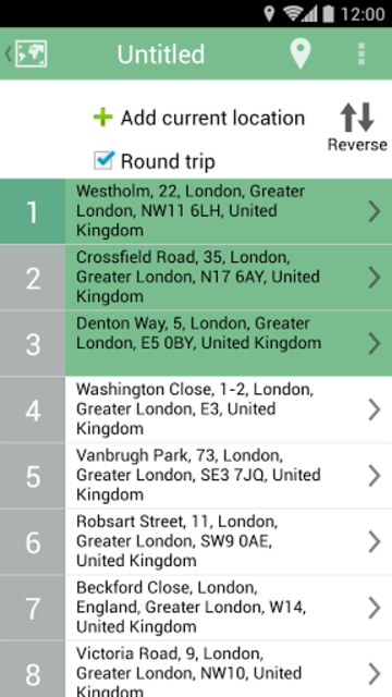 MySmartRoute Route Planner screenshot 4