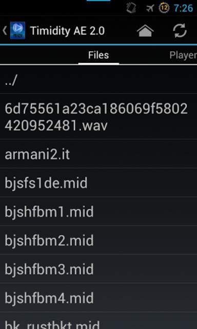 Timidity AE MIDI Player screenshot 1