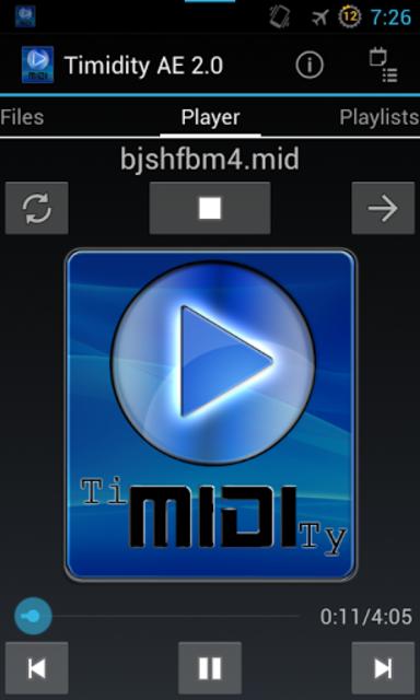 Timidity AE MIDI Player screenshot 2