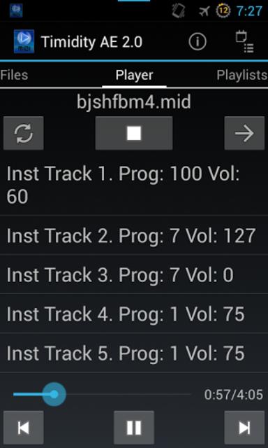 Timidity AE MIDI Player screenshot 3